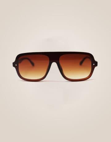 Square shape brown sunglasses