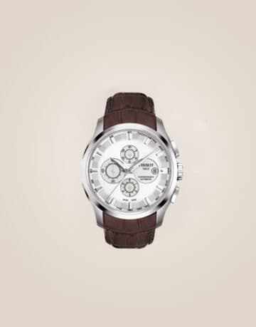 tissot brown watch